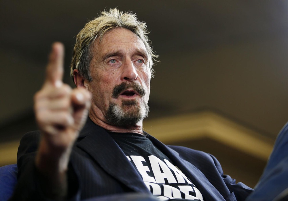 JOHN MCAFEE IS FREE ONCE AGAIN