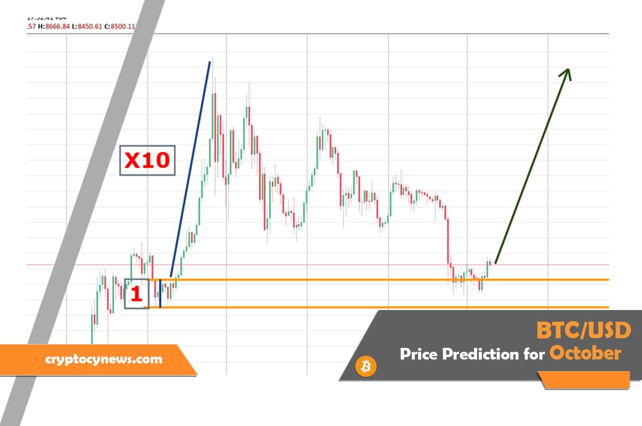 Bitcoin Price Prediction for October 2019 ($10,000 per BTC?)