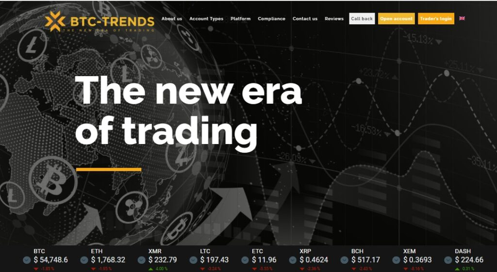 btc trends website