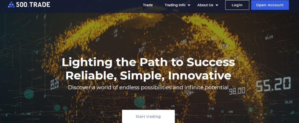 500.trade website
