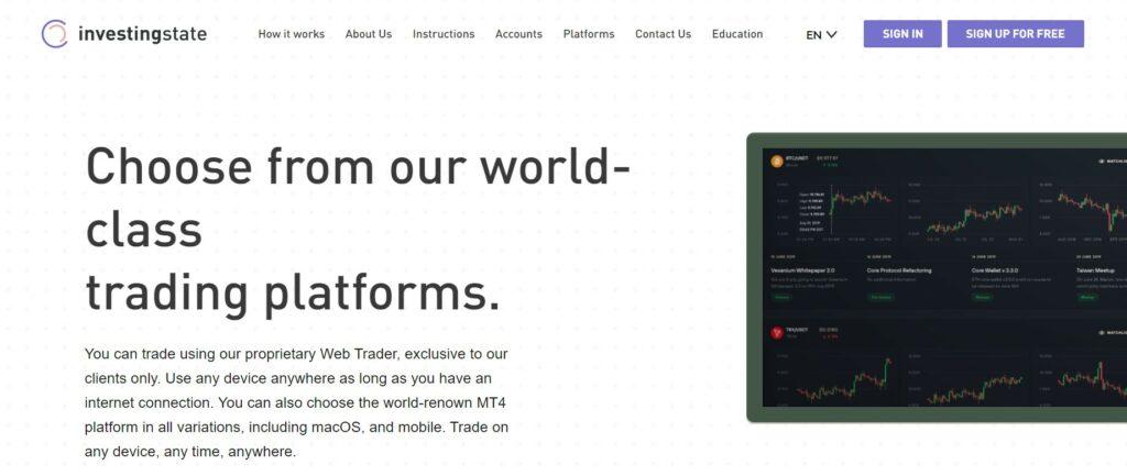 InvestingState website